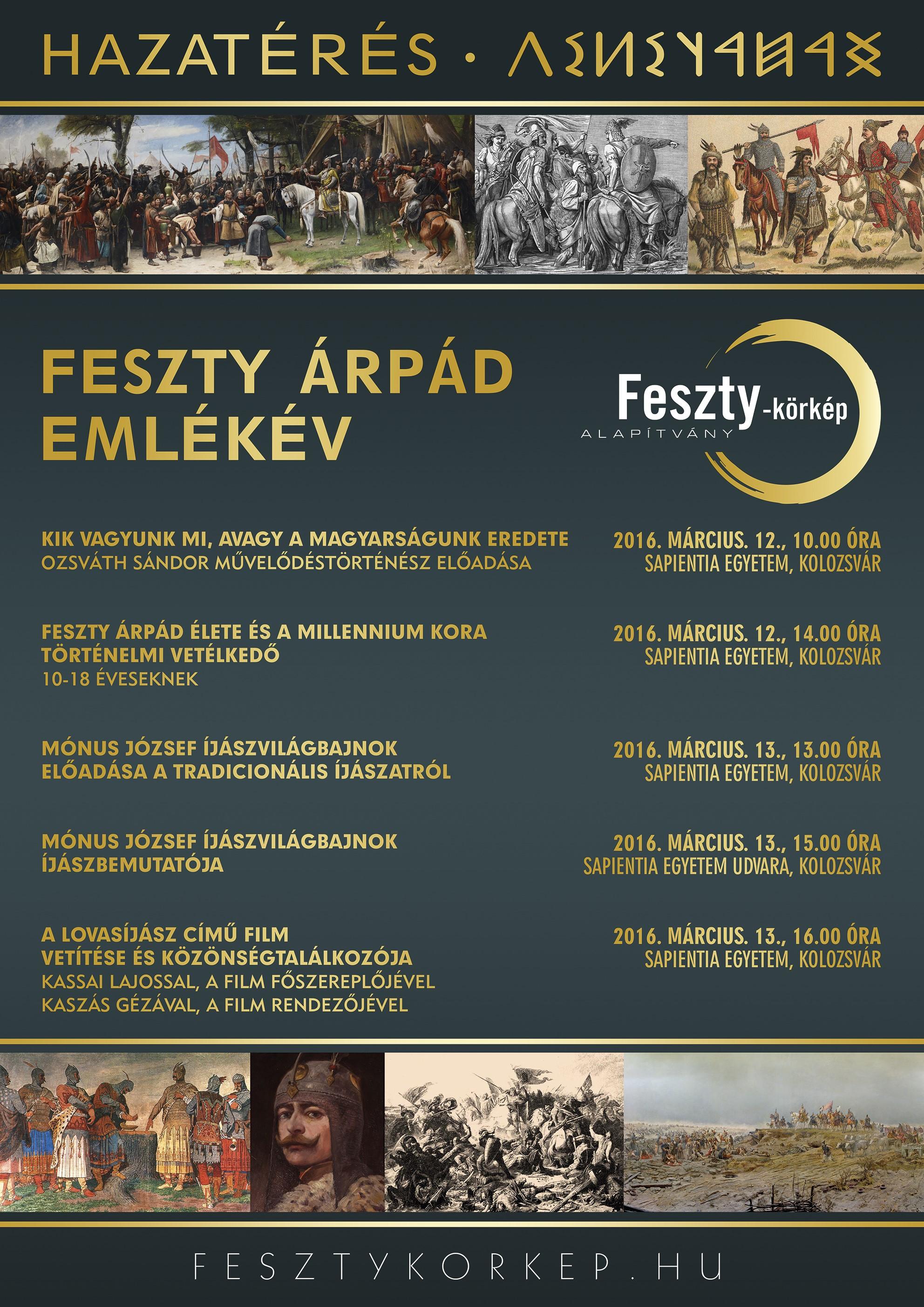 Feszty plakat, Kolozsvár 2016. 03. 12-13.